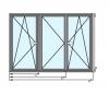 Trokrilni PVC prozor