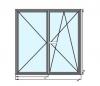 Dvokrilni PVC prozor